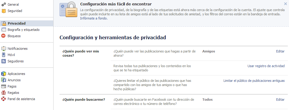Privacidad facebook Graph Search