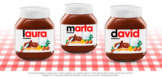 envases personalizables nutella